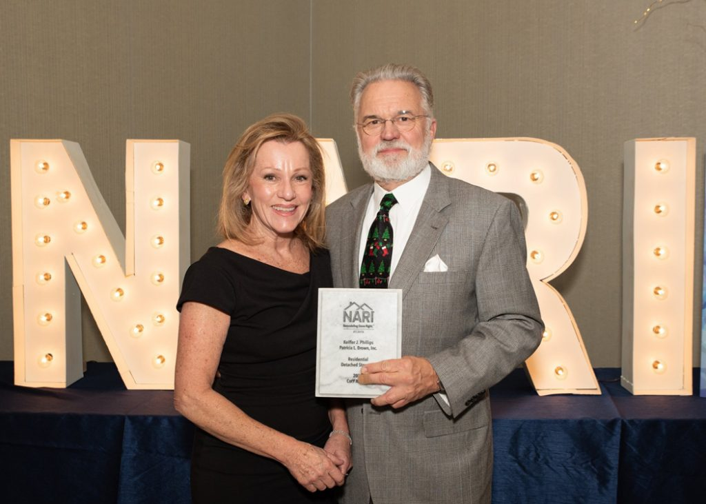 Patricia and Keiffer with NARI Award